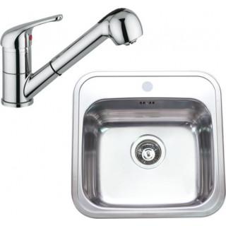 Kuchyňský set Sinks (dřez Manaus 460 + baterie Vento 4 S)