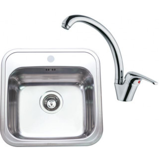Kuchyňský set Sinks (dřez Manaus 460 + baterie Vento 55)