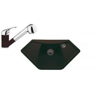 Kuchyňský set Sinks (dřez Naiky 980 + baterie Capri 4 S) Marone 93
