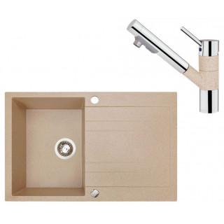 Kuchyňský set Sinks (dřez Grande 800 Beige 91 + baterie Mix 4000 PLUS S Beige)