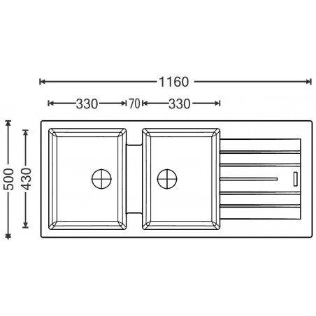 Kuchyňský dřez Sinks Perfecto 1160 DUO Titanium 72