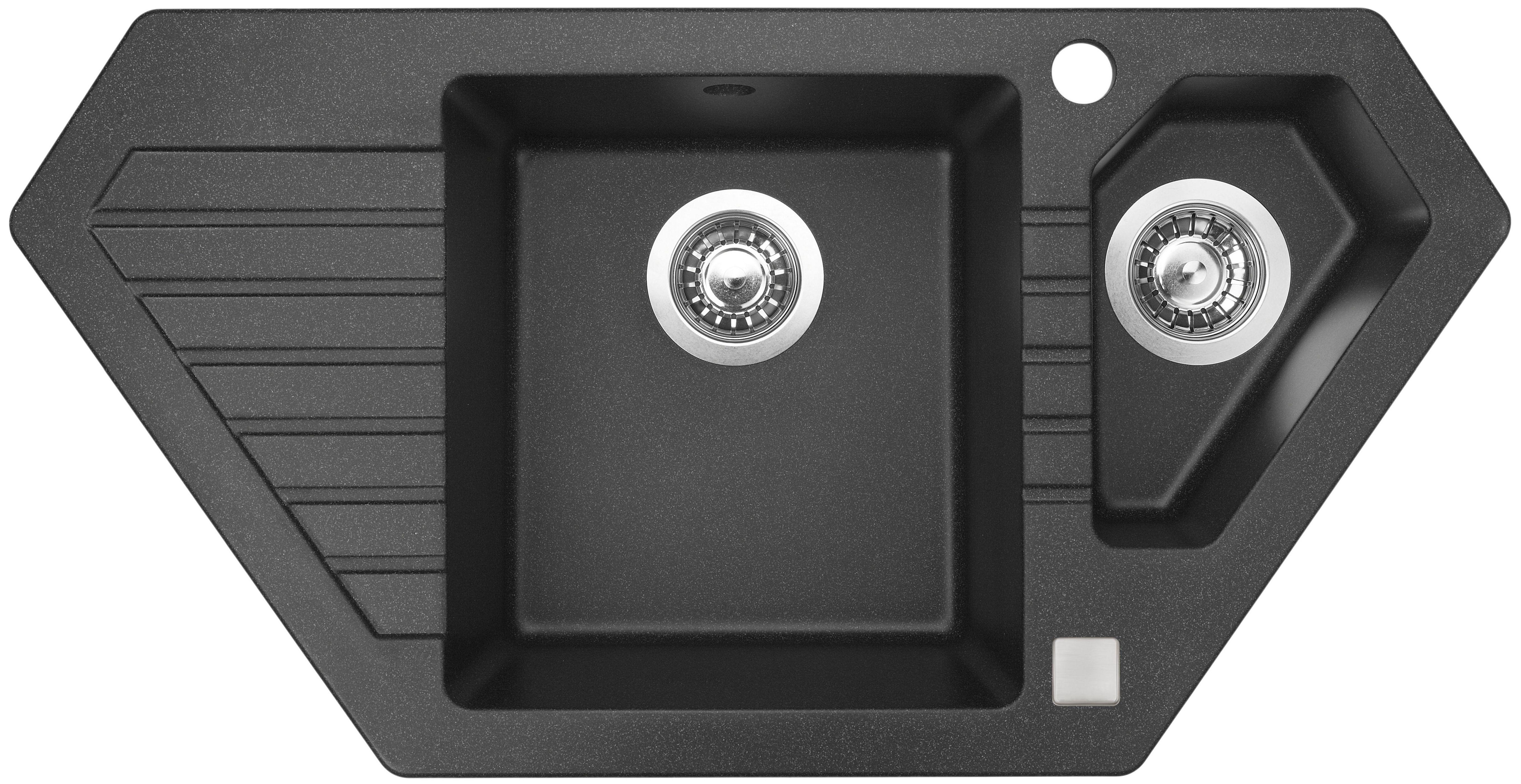 Kuchyňský dřez Sinks Bravo 850.1 Granblack 30