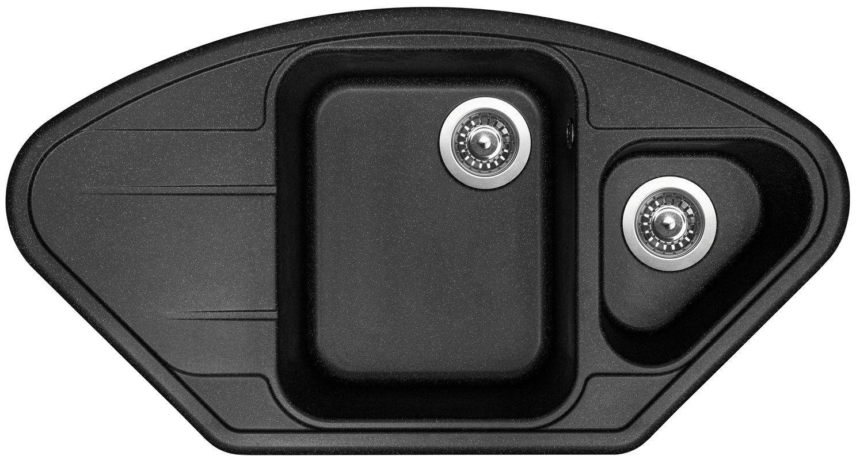 Kuchyňský dřez Sinks Lotus 960.1 Granblack 30