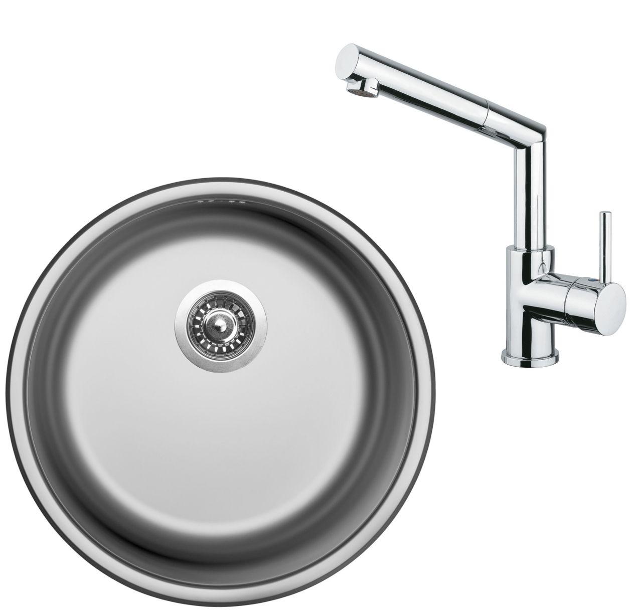 Set Sinks (dřez Round 450 V + baterie Mix 350 P)