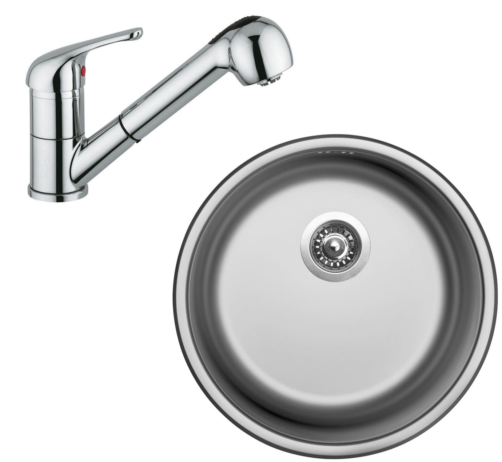 Set Sinks (dřez Round 450 V + baterie Vento 4 S)
