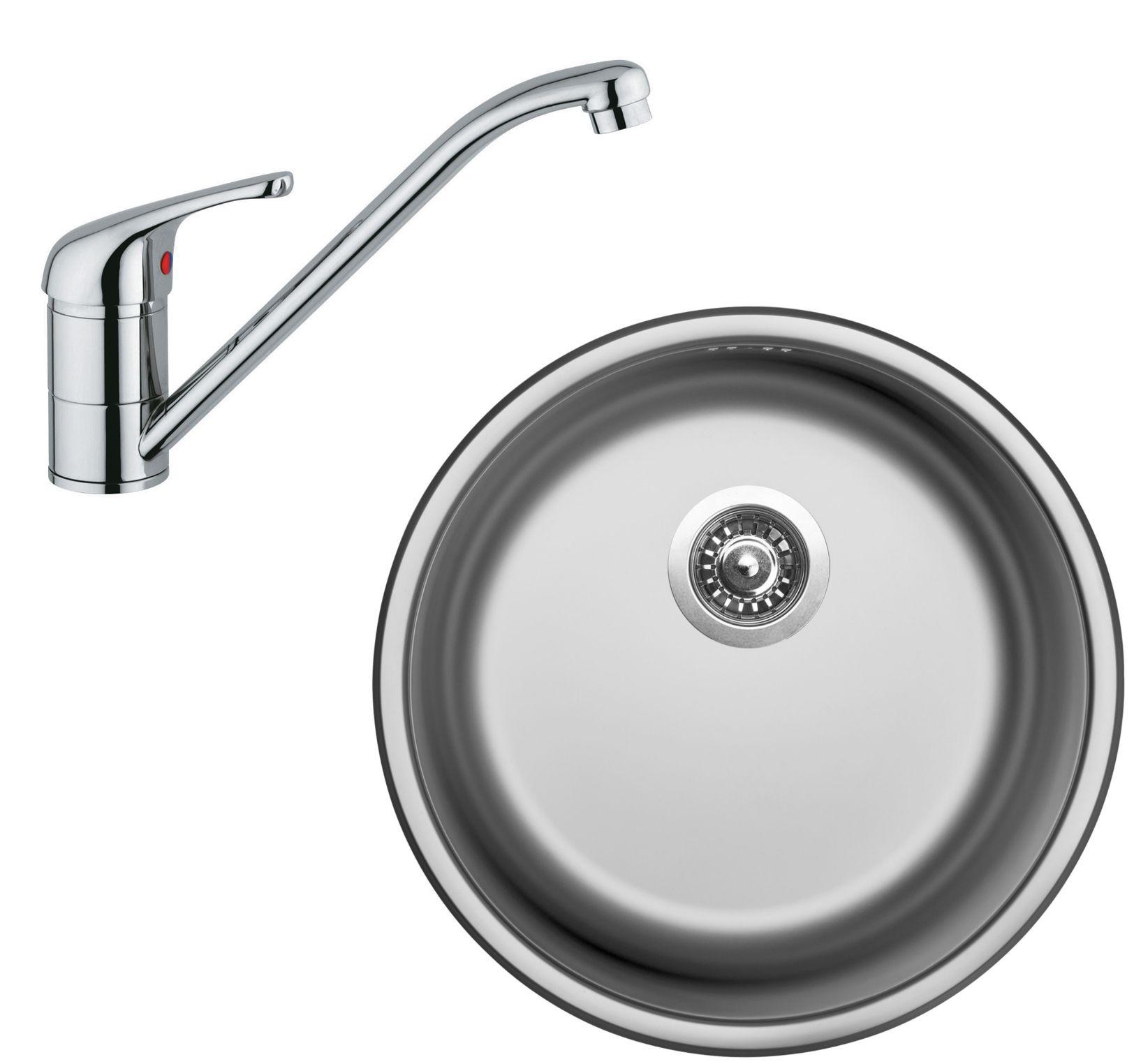 Set Sinks (dřez Round 450 V + baterie Vento 4)
